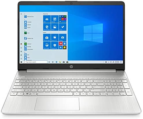 """2021 HP 15 15.6"""" FHD Touchscreen Business Laptop Computer_ Intel Quard-Core i7 1065G7 up to 3.9GHz_ 12GB DDR4 RAM_ 256GB PCIe SSD_ Type-C_ Remote Work_ Silver_ Windows 10 Pro_ BROAGE 64GB Flash Stylus 3"""