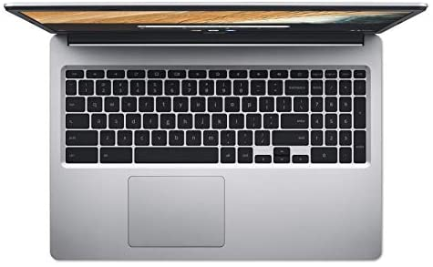 """Acer Chromebook 315 Laptop Computer/ 15.6"""" Screen/ Intel Celeron N4000 up to 2.6GHz/ 4GB DDR4/ 32GB eMMC/ 802.11AC WiFi/ Pure Silver/ Chrome OS/ Work from Home/ iPuzzle 32GB SD Card 7"""