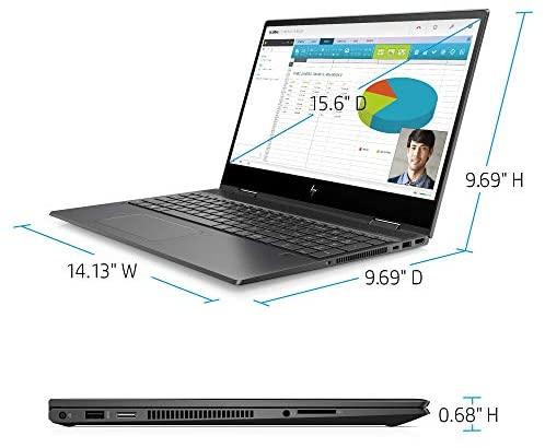 Newest HP Envy X360 2in1 Laptop, 15.6'' FHD Touchscreen, AMD Ryzen 5 4500U(Beat i7-7500U), 16GB RAM, 512GB SSD, Backlit Keyboard, Fingerprint Reader, Fast Charge, Webcam, Win10, w/Gm 3in1 Accessories 6