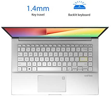 """ASUS VivoBook S14 S433 Thin and Light Laptop, 14"""" FHD Display, Intel Core i5-1135G7 CPU, 8GB DDR4 RAM, 512GB PCIe SSD, Thunderbolt 3, Wi-Fi 6, Windows 10 Home, Dreamy White, S433EA-DH51-WH 5"""
