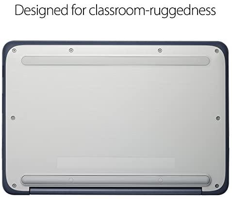 "ASUS Chromebook-Laptop- 11.6"" Ruggedized and Spill Resistant Design-with 180 Degree-Hinge, Intel N3060 Celeron 4GB DDR3, 32GB eMMC, Chrome OS- C202SA-YS04 Dark Blue 9"