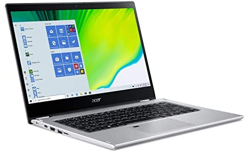 """Acer Spin 3 Convertible Laptop, 14"""" Full HD IPS Touch, 10th Gen Intel Core i5-1035G4, 8GB LPDDR4, 512GB NVMe SSD, WiFi 6, Backlit KB, Fingerprint Reader, Rechargeable Active Stylus, SP314-54N-50W3 10"""