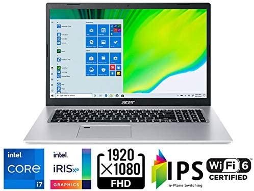 "Acer Aspire 5 A517-52-713G, 17.3"" Full HD IPS Display, 11th Gen Intel Core i7-1165G7, Intel Iris Xe Graphics, 16GB DDR4, 512GB NVMe SSD, WiFi 6, Fingerprint Reader, Backlit Keyboard 2"
