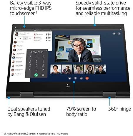 Newest HP Envy X360 2in1 Laptop, 15.6'' FHD Touchscreen, AMD Ryzen 5 4500U(Beat i7-7500U), 16GB RAM, 512GB SSD, Backlit Keyboard, Fingerprint Reader, Fast Charge, Webcam, Win10, w/Gm 3in1 Accessories 3