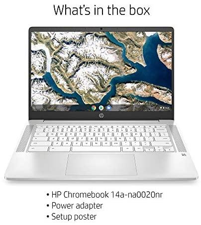 HP Chromebook 14-inch HD Laptop, Intel Celeron N4000, 4 GB RAM, 32 GB eMMC, Chrome (14a-na0020nr, Ceramic White) 5