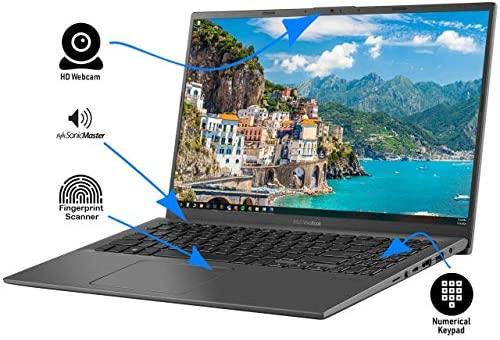 "Newest ASUS VivoBook 15.6"" FHD Touchscreen Laptop, 10th Gen Intel Quad-Core i5-1035G1 up to 3.6GHz, 12GB DDR4 RAM, 512GB SSD, Fingerprint Reader, WiFi,HDMI, Windows 10 S + AllyFlex Mouspad 5"