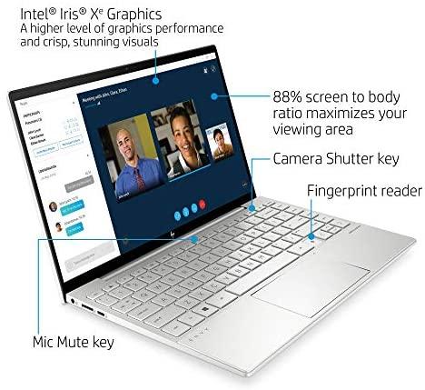 HP Envy 13 Laptop computer, Intel Core i7-1165G7, 8 GB DDR4 RAM, 256 GB SSD Storage, 13.3-inch FHD Touchscreen Show, Home windows 10 House with Fingerprint Reader, Digicam Kill Swap (13-ba1010nr, 2020 Mannequin) 4