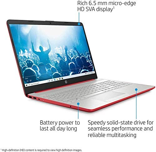 """HP 15.6"""" HD Micro-Edge Laptop, Intel Pentium Gold 6405U up to 2.40 GHz, 16GB RAM, 256GB SSD+1TB HDD, Webcam, USB Type-C, Ethernet, HDMI, Mytrix HDMI Cable, Win 10 5"""