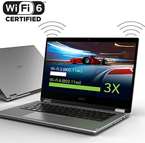 """Acer Spin 3 Convertible Laptop, 14"""" Full HD IPS Touch, 10th Gen Intel Core i5-1035G4, 8GB LPDDR4, 512GB NVMe SSD, WiFi 6, Backlit KB, Fingerprint Reader, Rechargeable Active Stylus, SP314-54N-50W3 4"""