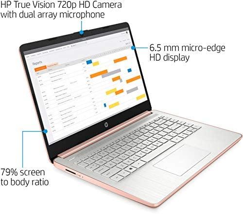 "2021 HP Laptop computer 14 Premium Pc I 14"" Diagonal HD Show I Intel Celeron N4020 I 4GB DDR4 64GB eMMC + 128GB SD Card I Intel UHD Graphics 600 I USB-C HDMI Wifi5 Win10 + Delca 32GB MicroSD Card 3"
