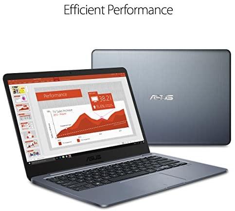 "ASUS Laptop L406 Thin and Light Laptop, 14"" HD Display, Intel Celeron N4000 Processor, 4GB RAM, 64GB eMMC Storage, Wi-Fi 5, Windows 10, Microsoft 365, Slate Gray, L406MA-WH02 6"