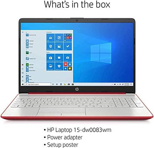 HP 2020 15.6 inches HD LED Display, Intel Pentium Gold 6405U, 4GB DDR4 RAM 500GB HDD, Windows 10 - Scarlet Red (Renewed) 5