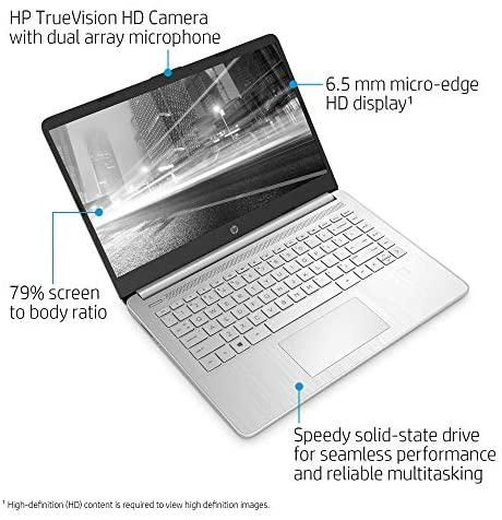 "Latest HP 14"" HD Laptop computer, Intel Core i5-1035G1, Intel UHD Graphics, 8GB SDRAM, 256GB SSD, Pure Silver, Home windows 10 2"