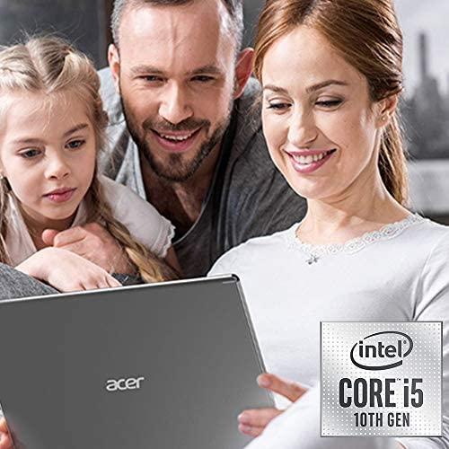 """Acer Aspire 5 Slim Laptop, 15.6"""" Full HD IPS Display, 10th Gen Intel Core i5-10210U, 8GB DDR4, 256GB PCIe NVMe SSD, Intel Wi-Fi 6 AX201 802.11ax, Fingerprint Reader, Backlit KB, A515-54-59W2, Silver 2"""