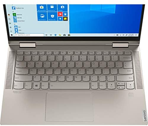 "2021 Newest Lenovo Yoga 2-in-1 Convertible Laptop, 14"" FHD Touch Screen, Intel Core i5-10210U Processor, 8GB RAM, 1TB SSD, Backlit Keyboard, Fingerprint Reader, USB-C, Mica, Win 10 + Oydisen Cloth 6"