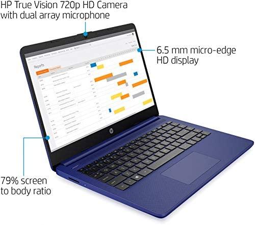 2020 HP 14 inch HD Laptop, Intel Celeron N4020 up to 2.8 GHz, 4GB DDR4, 64GB eMMC Storage, WiFi 5, WebCam, HDMI, Windows 10 S /Legendary Accessories (Google Classroom or Zoom Compatible) (Indigo Blue) 6