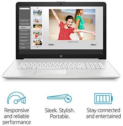 "2020 New HP 17-by3063st 17.3"" HD+ Display Notebook, Intel i3-1005G1, 8GB Memory, 128GB SSD + 1TB Hard Drive, Windows 10, Silver 2"