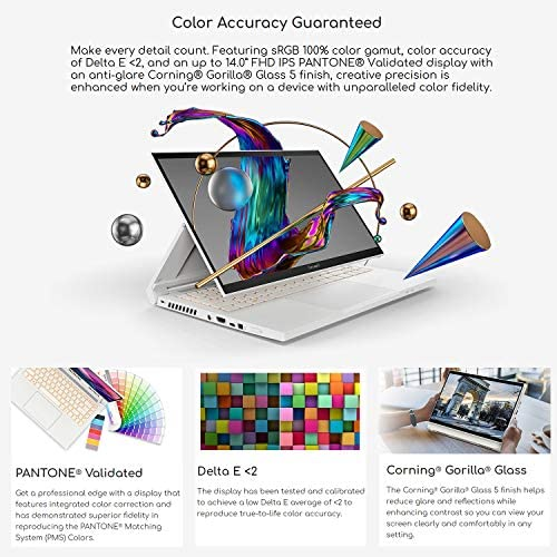 "Acer ConceptD 3 Ezel CC314-72G-72SX Convertible Creator Laptop, Intel i7-10750H, GeForce GTX 1650 Max-Q, 14"" FHD, Gorilla Glass, Pantone Validated, 100% sRGB, 16GB, 512GB NVMe SSD, Wacom AES 1.0 Pen 6"