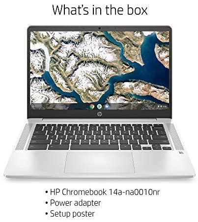 HP Chromebook 14-inch HD Laptop, Intel Celeron N4000, 4 GB RAM, 32 GB eMMC, Chrome (14a-na0010nr, Mineral Silver) 5