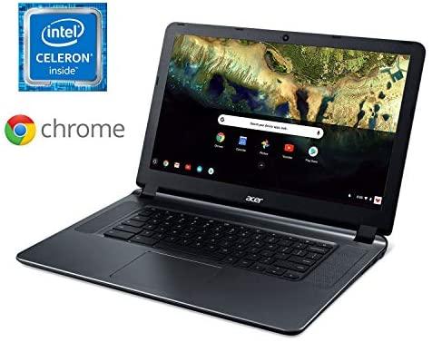 "Acer Chromebook 15 CB3-532-C42P, Intel Celeron N3060, 15.6"" HD Display, 4GB LPDDR3, 16GB eMMC, Granite Gray, Google Chrome 2"