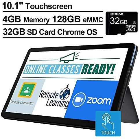 2021 Lenovo Chromebook Duet 10.1 Inch FHD 1200P Touchscreen 2-in-1 Laptop computer, 8-Core MediaTek Helio P60T, 4GB RAM, 128GB eMMC, Chrome OS + NexiGo 32GB MicroSD Card Bundle 2