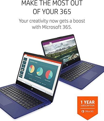 2021 HP 14 inch Laptop, AMD 3020e Processor, 4 GB RAM, 64 GB eMMC Storage, WiFi 5, Webcam, HDMI, Windows 10 S with Office 365 for 1 Year + Fairywren Card (Blue) 6