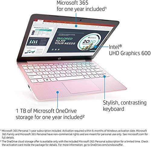 2020 HP Stream 11.6 inch Laptop Computer Intel Celeron N4020 Upto 2.8 GHz, 4GB RAM, 32GB eMMC Storage, Windows 10 Home, 13Hr Battery Life, Office 365 1Year, (Rose Pink) 6