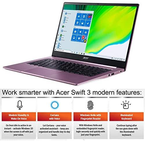"Acer Swift 3 Thin & Light Laptop, 14"" Full HD IPS, AMD Ryzen 7 4700U Octa-Core Processor with Radeon Graphics, 16GB LPDDR4X, 512GB NVMe SSD, WiFi 6, Backlit KB, Fingerprint Reader, SF314-42-R3U5 3"