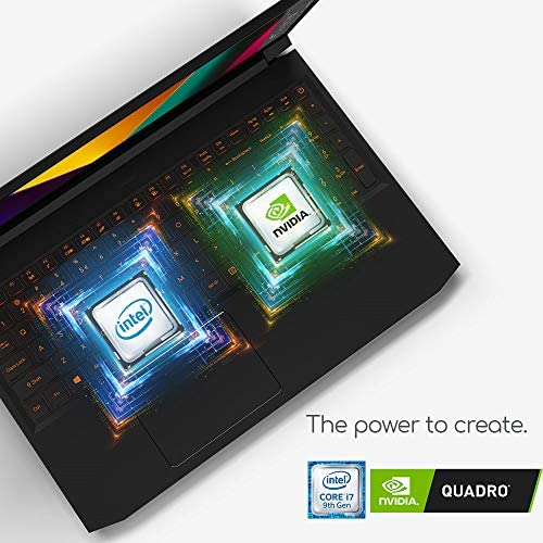 "Acer ConceptD 5 Pro CN515-71P-72PQ Creator Laptop, Intel i7-9750H, NVIDIA Quadro T1000, NVIDIA Studio, 15.6"" 4K Ultra HD IPS, 100% Adobe RGB, Pantone Validated, Delta E 4"