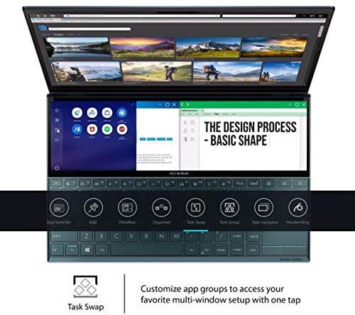 "ASUS ZenBook Duo UX481 14"" FHD NanoEdge Bezel Touch Display, Intel Core i7-10510U CPU, 8GB RAM, 512GB PCIe SSD, Innovative ScreenPad Plus, Windows 10 Home, Celestial Blue, UX481FA-DB71T 5"