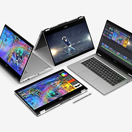 """Acer Spin 3 Convertible Laptop, 14"""" Full HD IPS Touch, 10th Gen Intel Core i5-1035G4, 8GB LPDDR4, 512GB NVMe SSD, WiFi 6, Backlit KB, Fingerprint Reader, Rechargeable Active Stylus, SP314-54N-50W3 3"""