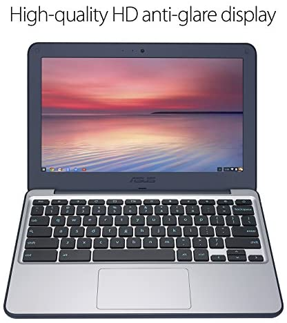 "ASUS Chromebook-Laptop- 11.6"" Ruggedized and Spill Resistant Design-with 180 Degree-Hinge, Intel N3060 Celeron 4GB DDR3, 32GB eMMC, Chrome OS- C202SA-YS04 Dark Blue 6"