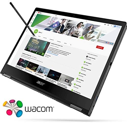 """Acer Spin 5 Convertible Laptop, 13.5"""" 2K 2256 x 1504 IPS Touch, 10th Gen Intel Core i7-1065G7, 16GB LPDDR4X, 512GB NVMe SSD, Wi-Fi 6, Backlit KB, FPR, Rechargeable Active Stylus, SP513-54N-74V2 3"""