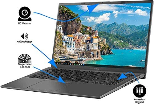 ASUS Vivobook R 15.6-inch FHD Touch-Screen 128GB SSD Intel i3-1005G1 up to 3.4GHz (4GB RAM, Windows 10 Home, HDMI, SD Card Reader) Slate Gray, R564JA-UH31T 5