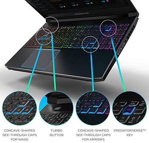 "Acer Predator Helios 300 Gaming Laptop, Intel i7-10750H, NVIDIA GeForce RTX 2060 6GB, 15.6"" Full HD 144Hz 3ms IPS Display, 16GB Dual-Channel DDR4, 512GB NVMe SSD, Wi-Fi 6, RGB Keyboard, PH315-53-72XD 6"