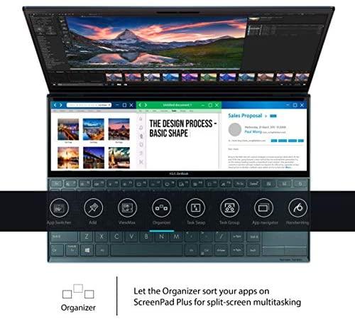 "ASUS ZenBook Duo UX481 14"" FHD NanoEdge Bezel Touch Display, Intel Core i7-10510U CPU, 8GB RAM, 512GB PCIe SSD, Innovative ScreenPad Plus, Windows 10 Home, Celestial Blue, UX481FA-DB71T 4"