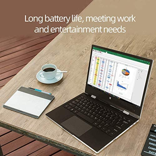 Jumper 11.6 inch Full HD Touchscreen Laptop 6GB RAM, 128GB eMMC 360 Degree Convertible Tablet PC Windows 10 Ultrabook PC Intel Celeron Quad Core Processor (Navy Blue) 4
