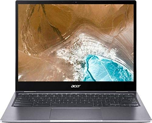 "Acer Chromebook Spin 713 13.5"" 2K Touchscreen 2-IN-1 Laptop computer Pc, Intel Quard-Core i5-10210U (Beats i7-7500U), 8GB DDR4 RAM, 128GB PCIe SSD, WiFi 6, Backlit KB, Chrome OS, BROAGE 64GB Flash Stylus 3"