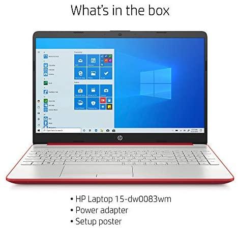 "2020 HP 15.6"" HD LED Display Laptop, Intel Pentium Gold 6405U Processor, 4GB DDR4 RAM, 128GB SSD, HDMI, Webcam, WI-FI, Windows 10 S, Scarlet Red 9"