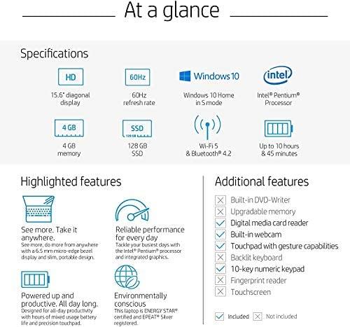 HP 2020 15.6 inches HD LED Display, Intel Pentium Gold 6405U, 4GB DDR4 RAM 500GB HDD, Windows 10 - Scarlet Red (Renewed) 6