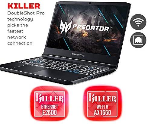 "Acer Predator Helios 300 Gaming Laptop, Intel i7-10750H, NVIDIA GeForce RTX 2060 6GB, 15.6"" Full HD 144Hz 3ms IPS Display, 16GB Dual-Channel DDR4, 512GB NVMe SSD, Wi-Fi 6, RGB Keyboard, PH315-53-72XD 9"