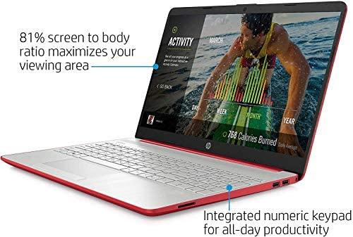 2020 HP 15.6'' HD LED Display Intel Pentium Gold 6405U 4GB DDR4 RAM 500GB HDD Windows 10 Scarlet Red 3
