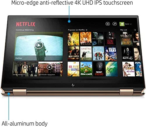 """HP Spectre x360 2-in-1 Touchscreen Laptop computer, 4K UHD 15.6"""", Core i7-10510U, GeForce MX330 2GB Graphics, 16GB RAM, Backlit, Thunderbolt 3, 1TB NVMe PCIe SSD, Mytrix Wi-fi Mouse, Win 10 (Renewed) 9"""