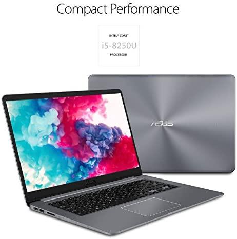 ASUS VivoBook Thin and Lightweight FHD WideView Laptop, 8th Gen Intel Core i5-8250U, 8GB DDR4 RAM, 128GB SSD+1TB HDD, USB Type-C, NanoEdge, Fingerprint Reader, Windows 10 - F510UA-AH55 4