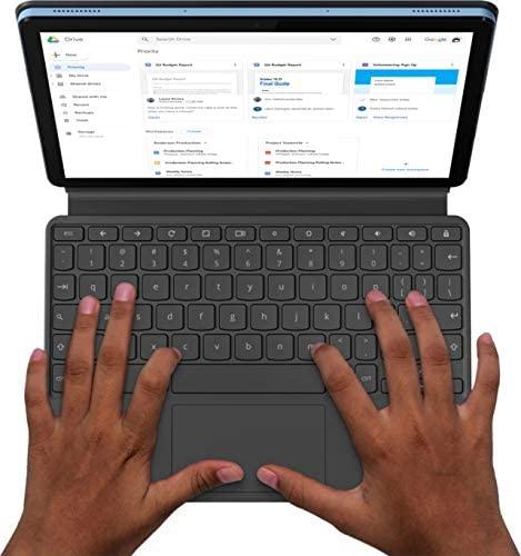 2021 Lenovo Chromebook Duet 10.1 Inch FHD 1200P Touchscreen 2-in-1 Laptop computer, 8-Core MediaTek Helio P60T, 4GB RAM, 128GB eMMC, Chrome OS + NexiGo 32GB MicroSD Card Bundle 4