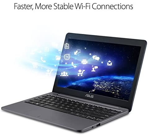 """ASUS L203MA-DS04 VivoBook L203MA Laptop, 11.6"""" HD Display, Intel Celeron Dual Core CPU, 4GB RAM, 64GB Storage, USB-C, Windows 10 Home In S Mode, Up To 10 Hours Battery Life, One Year Of Microsoft 365 8"""