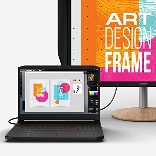 "Acer ConceptD 5 Pro CN515-71P-72PQ Creator Laptop, Intel i7-9750H, NVIDIA Quadro T1000, NVIDIA Studio, 15.6"" 4K Ultra HD IPS, 100% Adobe RGB, Pantone Validated, Delta E 5"