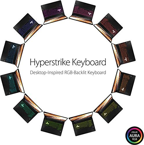 """Asus TUF Gaming Laptop, 15.6"""" IPS Full HD, AMD Quad-Core Ryzen 7 3750H, Nvidia GeForce GTX 1650, RGB Backlit Keyboard, Webcam, BT, Windows 10 + CUE Accessories (8GB DDR4, 256GB SSD) 4"""
