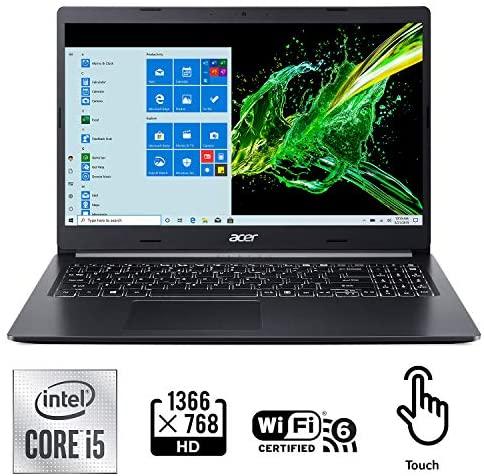 "Acer Aspire 5 A515-55-56VK, 15.6"" Full HD IPS Display, 10th Gen Intel Core i5-1035G1, 8GB DDR4, 256GB NVMe SSD, Intel Wireless WiFi 6 AX201, Fingerprint Reader, Backlit Keyboard, Windows 10 Home 3"