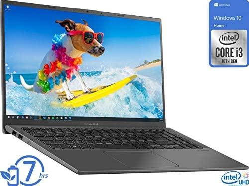 "Newest ASUS VivoBook 15.6"" FHD Touchscreen Laptop, 10th Gen Intel Quad-Core i5-1035G1 up to 3.6GHz, 12GB DDR4 RAM, 512GB SSD, Fingerprint Reader, WiFi,HDMI, Windows 10 S + AllyFlex Mouspad 2"